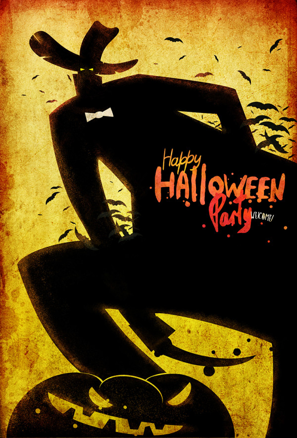 "Ariadna's illustration ""Happy Halloween Party"""