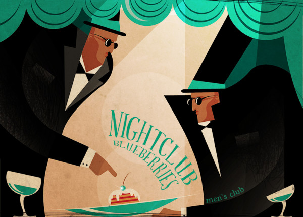 "Ariadna's illustration ""Nightclub"""