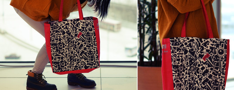 """Shopping bag with Ariadna's illustration """"Geometrical ornament"""""""