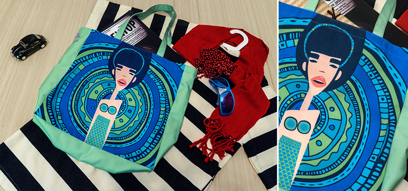 """Shopping bag with Ariadna's illustration """"Mermaid"""""""