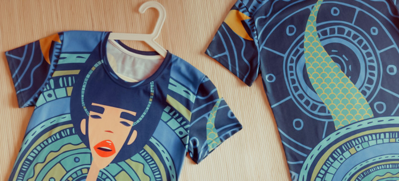"""T-shirt with Ariadna's illustration """"Mermaid"""""""