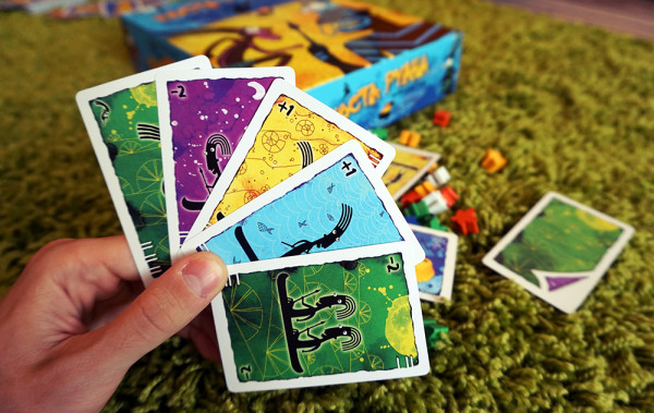 Photo of board game «Costa Ruana» with Ariadna's illustrations
