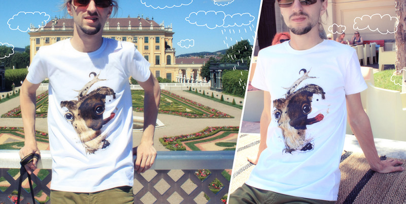"""T-shirt with Ariadna's illustration """"Jack Russell"""""""