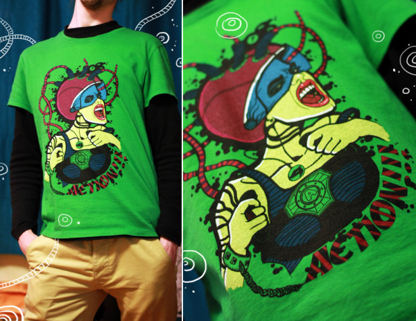 """T-shirt with Ariadna's illustration """"Action"""""""