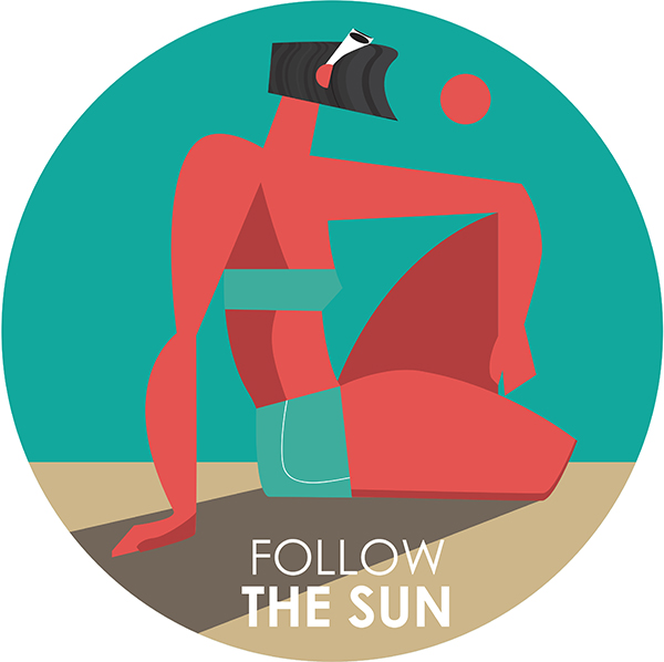 "Ariadna's illustration ""Follow the sun"" option 2"
