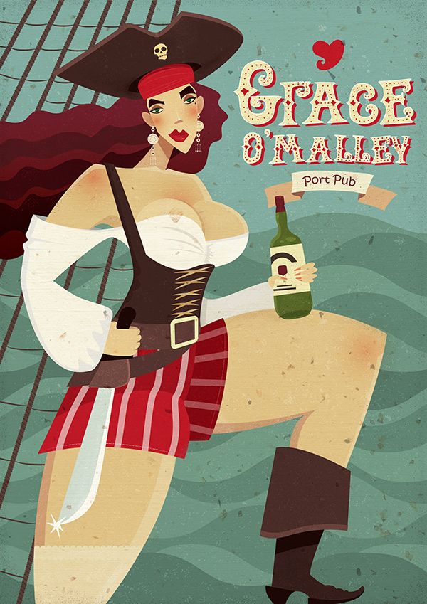 "Ariadna's illustration ""Grace O'Malley"""