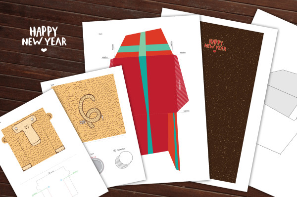 Happy New Year - Greeting set