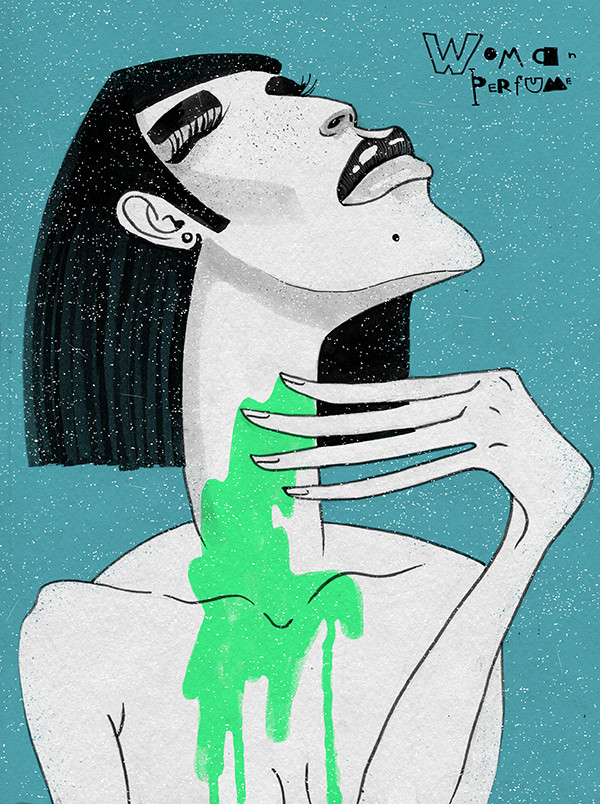 "Ariadna's illustration ""Woman perfume"""