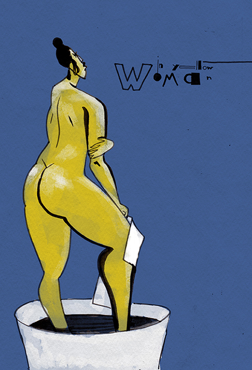 Woman in yellow. Ariadna's illustration