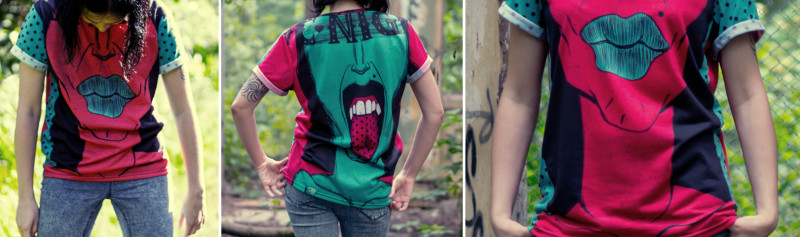 """T-shirt with Ariadna's illustration """"Screaming Girl"""""""