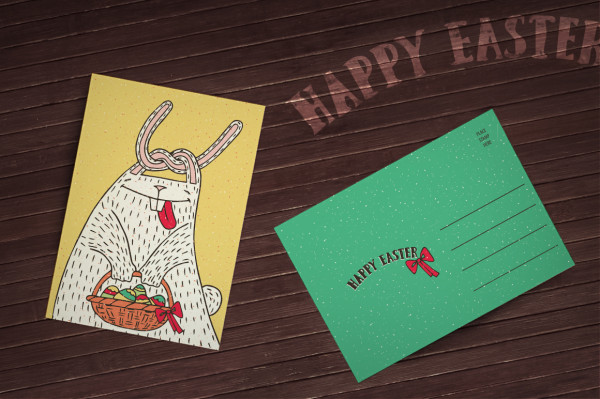 Easter cards with Ariadna's illustrations
