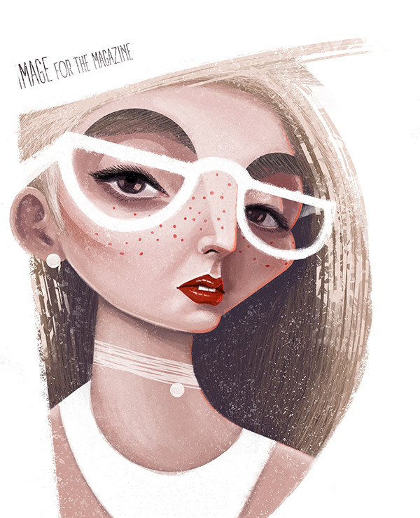 "Ariadna's illustration ""Girl in glasses"""