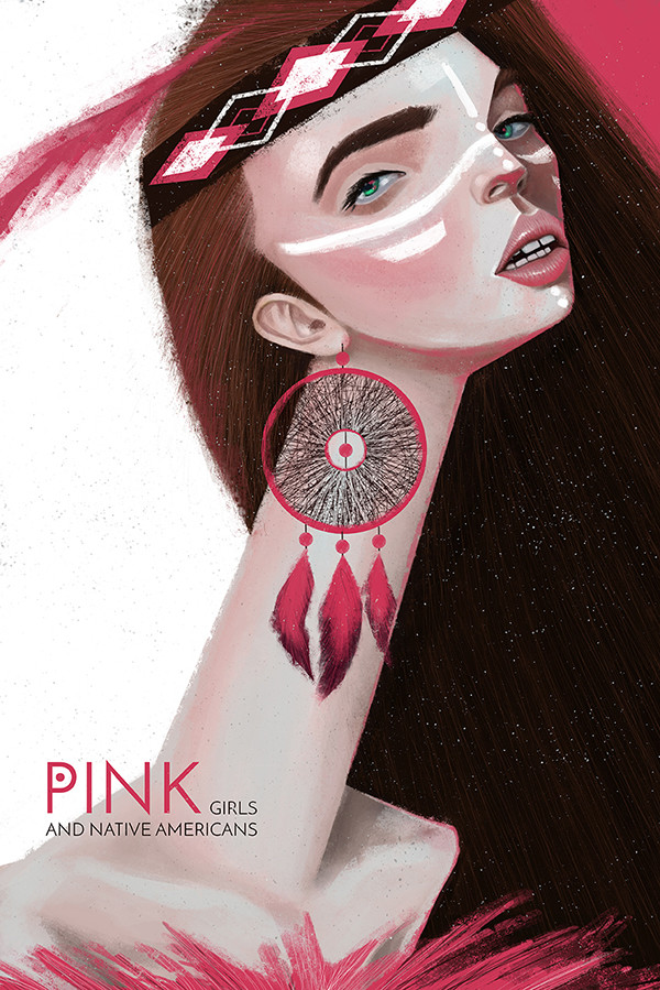 "Ariadna's illustration ""Pink girl"""