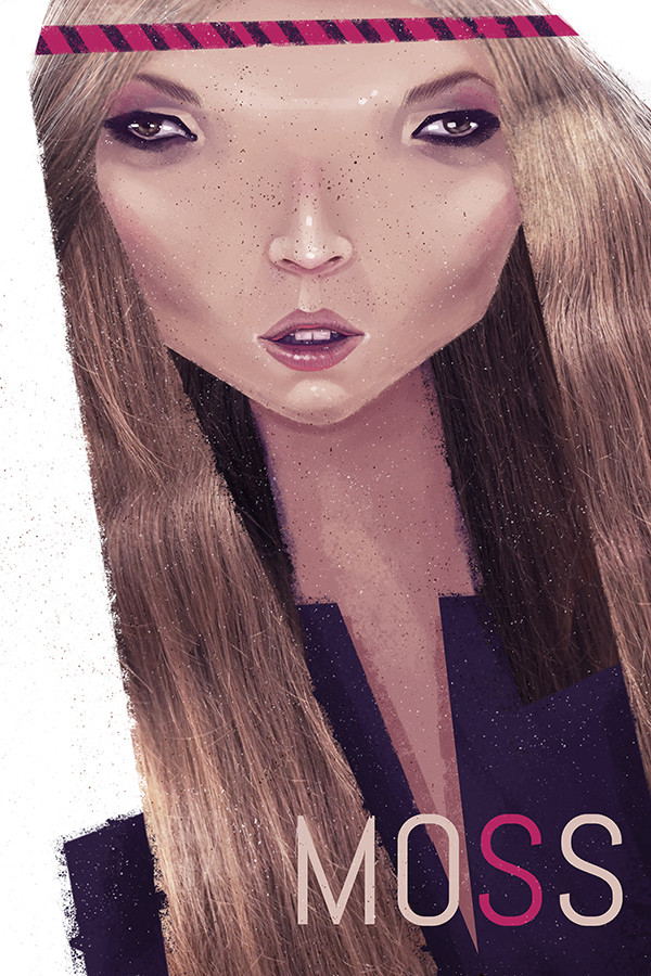 "Ariadna's illustration ""Kate Moss"""