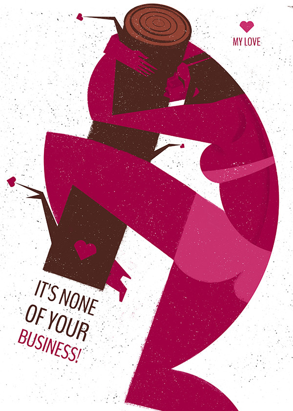 "Ariadna's illustration ""It's None Of Your Business"""