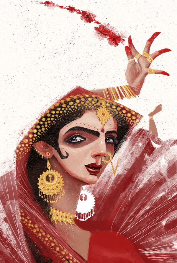 "Ariadna's illustration ""Reflections India"""