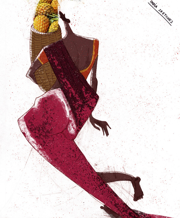 "Ariadna's illustration ""Indian woman"""