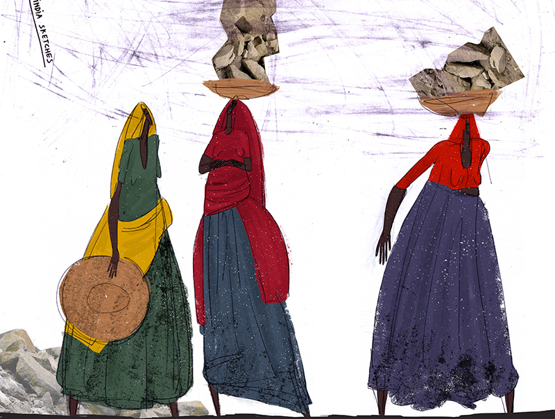 "Ariadna's illustration ""Indian women"""