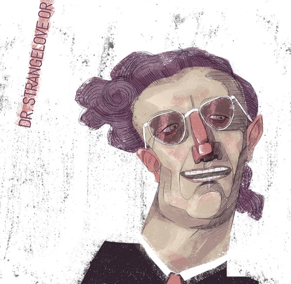 "Ariadna's illustration ""Portrait of film Dr. Strangelove or: How I Learned to Stop Worrying and Love the Bomb"""