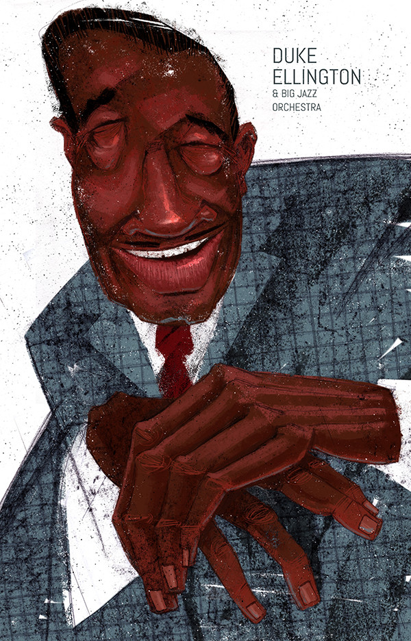 "Ariadna's illustration ""Portrait Duke Ellington """