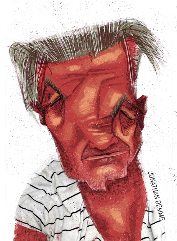 "Ariadna's illustration ""Portrait Jonathan Demme """